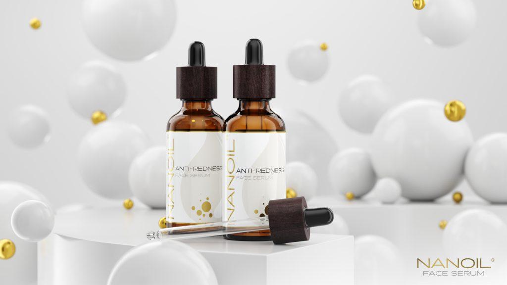 polecane serum do twarzy do cery naczynkowej Nanoil